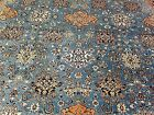 GORGEOUS 1940's SKY BLUE PERSIAN, WOOL AND SILK RUG 10 x13'6 HANDWASHED