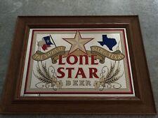 Lone Star National Beer Of Texas 1989 Vintage Bar Pub Mancave
