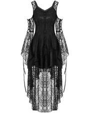 Dark In Love Gothic Lace Dress Black Steampunk Witch Vintage Victorian Vampire