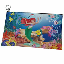 The Little Mermaid Ariel Canvas Heart Zip Coin Purse Cosmetic Bag p14 w0048
