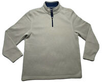 Izod Performance Natural Stretch Men's 1/4 Zip Pullover Shirt Size L Oatmeal