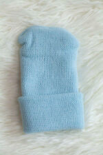 Blue Solid Knit Boy Newborn Hospital Hat - Baby Beanie