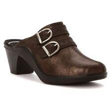 NIB Womens Romika Mokassetta 294 Leather Clogs Mocca Brown US Sz 11 EU 42