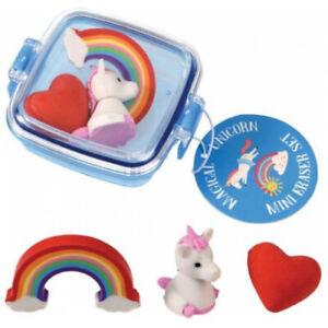 Unicorn Rainbow Rubbers Erasers Set Girls Toys Christmas Stocking Gifts Presents