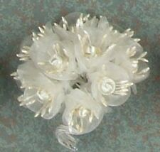 White Organza Flowers Craft Supplies DIY Project 12 Bunches