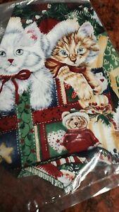 CAT CHRISTMAS BANDANA HANDMADE USA