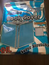 Jumbo Stretchable Textbook Book Cover-Baby Blue