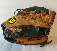 """Wilson Pro FP450  11.5"""" Leather Fastpitch Softball Glove Right Hand Throw"""