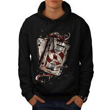 Wellcoda Ace Jack Of Spades Mens Hoodie, Card Casual Hooded Sweatshirt