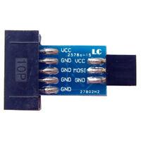 10 Pin Convert To Standard 6 Pin Adapter Board ATMEL STK500 AVRISP USBASP ISP