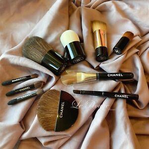 Chanel brush set lot of 10 ( foundation powder concealer eyeliner sponge shadow)