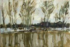 April water Landscape by Sergey AVDEEV Original RUSSIAN oil Painting