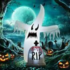 6 Ft Halloween Inflatable White Ghost with Tombstone, Halloween Blow Up Yard