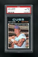 1971 TOPPS #220 RON SANTO HOF CHICAGO CUBS PSA 8 NM/MT CENTERED!