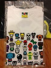 100% Authentic New Rare Bape women T shirt Milo and Friend Size Small from Japan