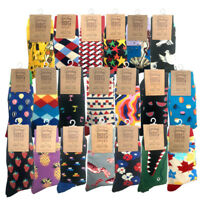 DREAM BIG HAPPY FUN CREW SOCKS ONE SIZE ASSORTED DESIGNS MENS BUSINESS WORK SOCK