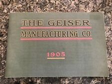 Geiser Manufacturing Co. Peerless Machinery Tractor Engine Catalog 1905 Repro