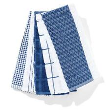 Pack of 5 Terry Tea Towels Navy Blue 40cm x 63cm