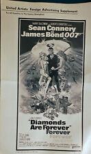 JAMES BOND DIAMONDS ARE FOREVER RARE ORIGINAL FOREIGN AD SHEETS MATTES 1971