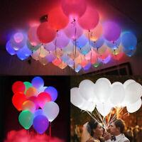 50x Leuchtende LED Luftballons Geburtstag Hochzeit Party Deko Club Licht Ballons
