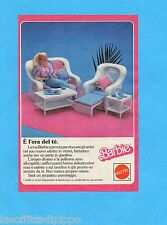 TOP985-PUBBLICITA'/ADVERTISING-1985- MATTEL BARBIE - MOBILI IN VIMINI