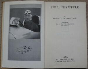 FULL THROTTLE BY SIR HENRY BIRKIN 1943 BENTLEY BROOKLANDS