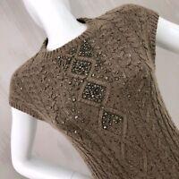 Brunello Cucinelli CASHMERE Silk Maxi Long Evening Sweater Jumper Dress Size S
