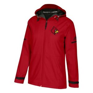 Louisville Cardinals NCAA Adidas Women's ClimaWarm Red Game Built Rain Jacket