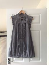 LADIES 'GLAMOROUS' GREY/ WHITE STRIPED TUNIC DRESS. SIZE 8. VERY GOOD CONDITION.