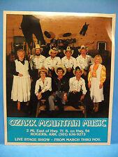 Ozark Mountain Music 80's 8X10 Photo Rogers Arkansas Stage Show Crew Country