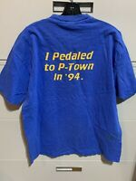 Vintage I PEDAL TO P TOWN IN 1994 T-Shirt Hanes Beefy USA Sharps Miller Sponsor