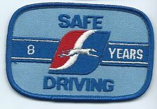 "Greyhound Bus ""8 years safe driving"" driver patch 2-1/2 X 3-3/4 inch"