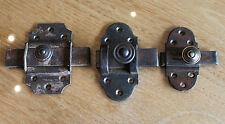 3 anciennes targette ou verrou serrure clé gâches pour placard  porte n12..