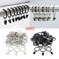 50PCS Metal Rings Curtain Clips Strong Window Curtain Ring with Clip 1.26in Dia