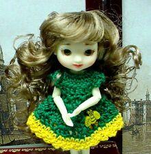 "Doll Wig, Monique Gold ""Jillian"" 3.25""  - Ginger Brown - for Amelia Thimble"