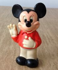 """VINTAGE 1978 MICKEY MOUSE FIGURE SQUEEZE TOY GABRIEL 6.5"""" DISNEY FIGURINE TOPPER"""