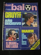 DON BALON 45 SEVILLA-F.C.BARCELONA CRUYFF-MONTREAL 76-ATLETICO MADRID-NIKI LAUDA
