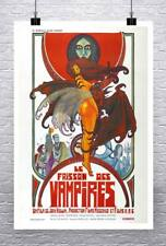 Vampires Vintage French Horror Movie Poster Rolled Canvas Giclee Print 24x36 in.