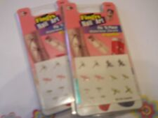 2 Pkgs. Fing'Rs Nail Art Waterless Decals - Dragonflies #1535 - Pic N Place!