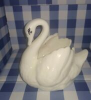 Vintage Swan Small Ceramic Planter