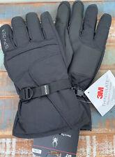 Spyder Ski Gloves Mens L XL Shredder Black 3m Thinsulate Snowboard Winter