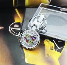 Crystal keyring keychain Keyfob Ring Car accessories for Cadillac ATS XTS CTS