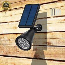 Auto Night Waterproof Garden Led Solar Panel Spotlight Wall lights Green