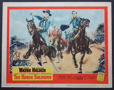 THE HORSE SOLDIERS JOHN WAYNE WILLIAM HOLDEN 1959 BEST LOBBY CARD #2