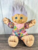 Russ Treasure Troll With Soft Body Purple Hair And Jewel Plush