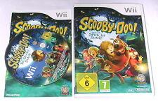 """Nintendo WII Gioco """"Scooby Doo spettro catturato nel pantano"""" COMPLETO"""