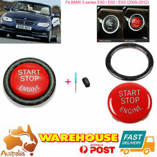 For BMW 3series E90 E92 E93 2009-2012 Vehicle Start Button Ring Replace Kit Red