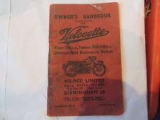 Velocette Riders Handbook Viper Venom mss 500 350 Clubman Endurance Mac manual