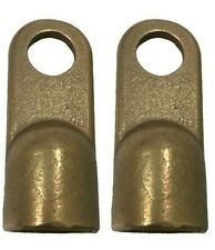2 Heavy Duty 40 Awg Gauge Brass 12 Hole Ring Battery Wire Cable Terminal Lugs