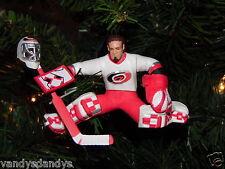 trevor KIDD carolina HURRICANE hockey NHL xmas TREE ornament HOLIDAY vtg JERSEY